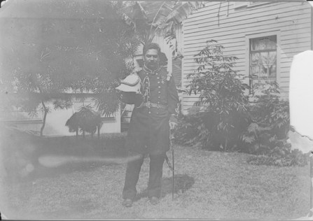 Kalanianaole, Jonah Kuhio, 1871-1922, in his military uniform-PP-97-1-031