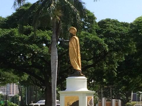 Kamehameha Statue-Honolulu_side