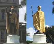 Kamehameha_Statue-Honolulu-front_and_back