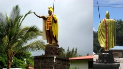 Kamehameha_Statue-Kapaau-front_and_back
