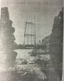 Kauakaiakaola Heiau-Reconstructed Anuu Tower-HTH-June 29 1962
