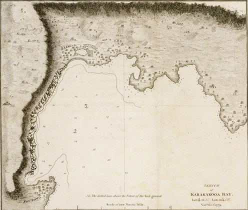 Kealakekua Bay-Henry Roberts with Cook expedition-1779-portion