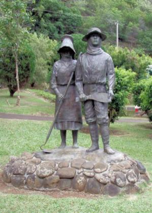 Kepaniwai-Japanese_sugarcane_workers-Statue