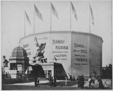 Kilauea cyclorama on the Midway Plaisance at the World's Columbian Exhibition, Chicago-1893