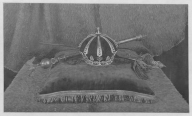 King Kalakaua's crown, scepter, and sword used during his coronation ceremony-PP-36-13-002-1883