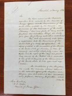 King Kamehameha III to Wyllie-English-Feb_21,_1854-1