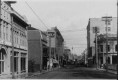 King St looking Ewa-Hawaiian Electric Co. on left, the Occidental Hotel, and Lewers & Cooke, Ltd. PP-38-7-038-1904