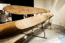 Kuhio and Koa surfboard (on display in Santa Cruz)