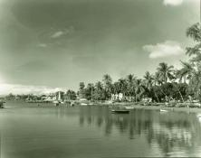 Lahaina Harbor before harbor perimeter retaining wall built-ca 1940