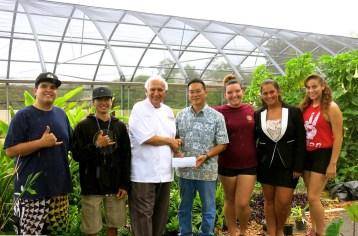 Lahainaluna-Chef Paris Nabavi-Sangrita Grill+Cantina-donated $1,200 to Lahainaluna High School's Agriculture Program-(mauitime)