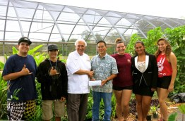 Lahainaluna-Chef Paris Nabavi-Sangrita Grill+Cantina-donated $1,200 to Lahainaluna High School's Agriculture Program-(mauitime)