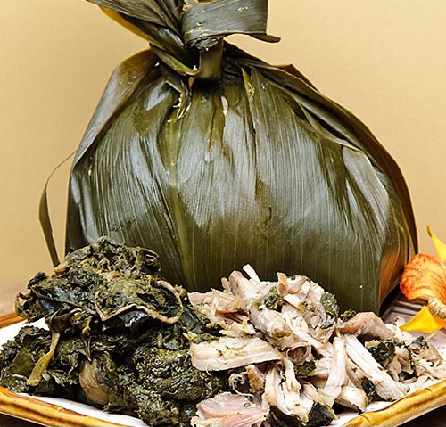 Laulau (Illustrating wrapped food for cooking)