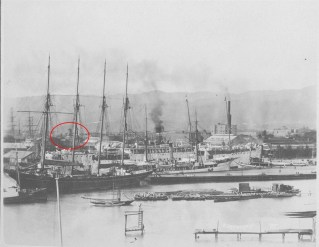 Lucas Clock Noted-Ships_in_Honolulu_Harbor-1900