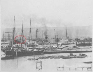 Lucas Clock Noted-Ships_in_Honolulu_Harbor-1900