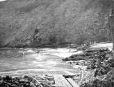 Lumber floated ashore at Napoopoo-1920s-DLNR