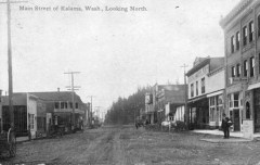 Main Street of Kalama, Wash-Looking North