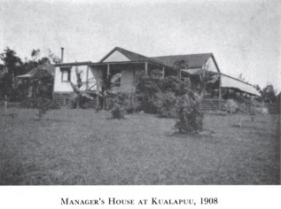 Manager's House Kualapuu-1908-Cooke