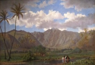 Manoa_Valley_from_Waikiki,_oil_on_canvas_by_Enoch_Wood_Perry_Jr.-1860s