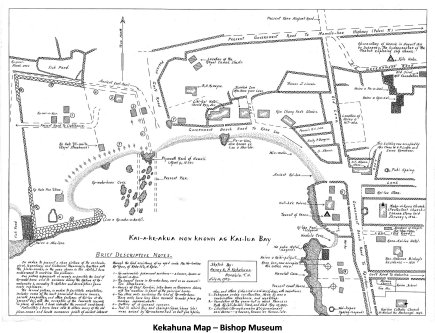Map of Kailua Bay-Kekahuna-BishopMuseum