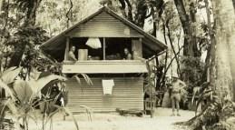 Marine quarters, Palmyra, 1942. The hut slept eight men-TNC