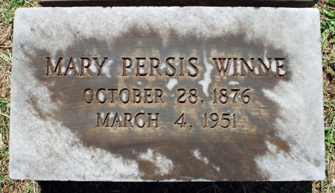 Mary Persis Winne-grave stone Oahu Cemetery
