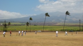 Maui's cricket ground with Mt Haleakala in the background-(mauicricketclub-org)
