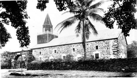 Umi stones in corners of Mokuaikaua Church