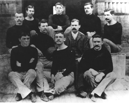 Naismith with what is believed to be the first US Basketball Team