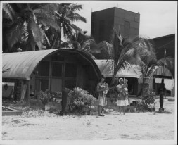Navy-built Quonset huts during WW II, then used as temporary housing-PP-46-1-029-00001-1950