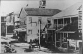 Near (R) Snow Bldg-2-story bldg is PCA-Honolulu Hale and Kamehameha V Post Office-PP-38-4-013-1870s