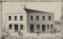 No._4._View_of_Honolulu._From_the_Catholic_church._(c._1854)-portion-Melchers Building