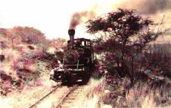 Number Five is seen climbing the three percent grade out of Mahukona