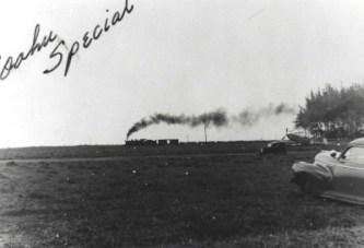 OR&L Train thunders past Mokuleia Field, Oahu,-(hawaii-gov-hawaiiaviation)-c1942-1943-400