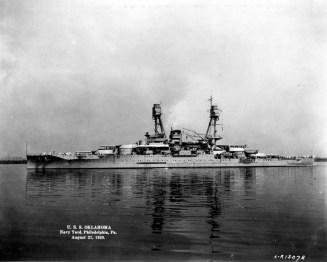 Off the Philadelphia Navy Yard, Pennsylvania, on 21 August 1929, following modernization