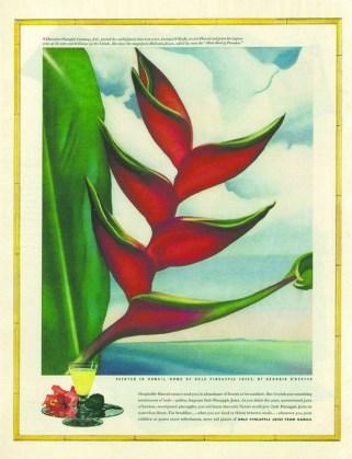 O'keeffe_-_Dole Pineapple Ad,_1939