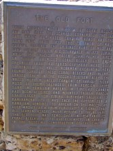Old Lahaina Fort plaque