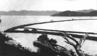 Old_photograph_of_the_Heʻeia_fishpond-(WC)