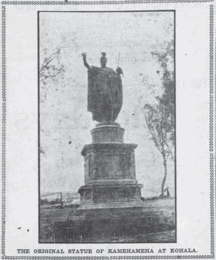 Original Kamehameha Statue-Kohala-PCA-Nov_27,_1907