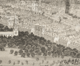 Overview of Common, with Park St. Church (left) 1850-WC