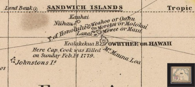 Pacific_Ocean_Including_Oceania-Samuel_Augustus_Mitchell-1853-portion-noting-'Kauhai'