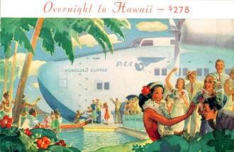 Pan Am brochure captures the romance of flying on a Boeing 314 clipper to Hawaii Smithsonian