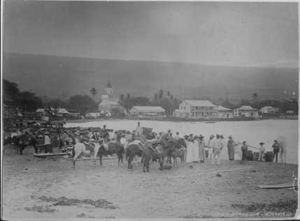 People gathered at Kailua landing-S00079