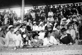 People in the stands at a horse race-(waikikivisitor-com)