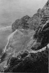 Photo taken from the Pali above the western end of Nu'alolo Kai, circa 1900-(Carpenter)