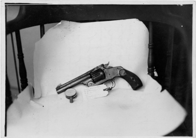 Pistol used by John Good to shoot Officer Leialoha-PP-37-4-019