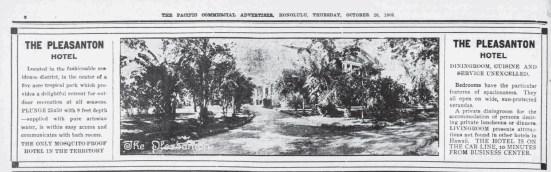 Pleasanton Ad-PCA-Oct 28, 1909