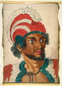 Portrait of Kanaina, a chief of the Sandwich Islands - one of the two chiefs along with Palea-he may have struck to final blow to Cook-1779