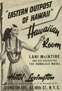 Poster invites Hawaiian music fans in New York-1943
