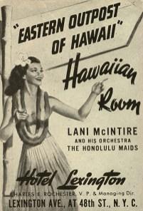 Poster invites Hawaiian music fans in New York-1943