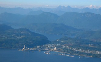 Powell_River_Aerial, BC Canada